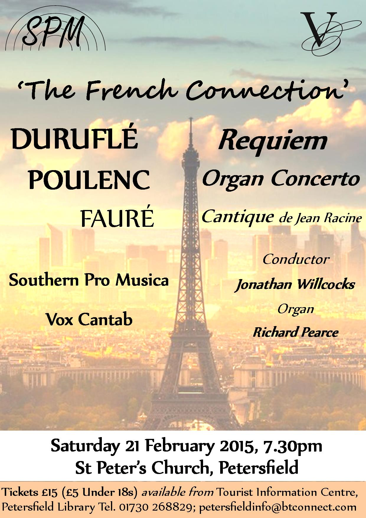 The French Connection concert poster
