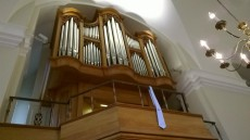 The Tickell organ at Downing College, Cambridge.