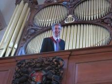 Organist Ian Tindale.