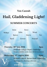 July & August 2016 | 'Hail, Gladdening Light!'