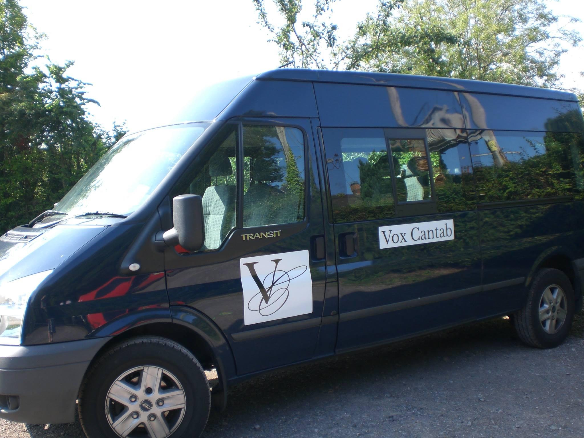 The Vox Cantab minibus