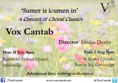 2017 July & August | 'Choral Classics'